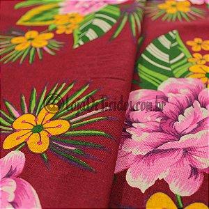 Chita Estampada Floral 1,50mt de Largura