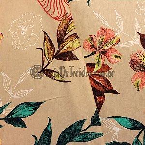 Viscolycra Estampada Floral 1,50m de Largura