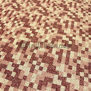 Jacquard Estampado Quadriculado Vermelho 1,40m de Largura