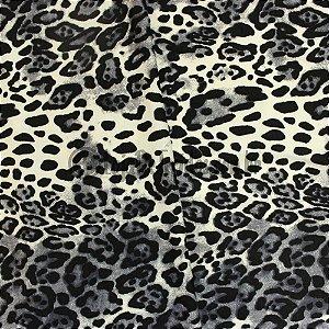 Viscolycra Estampada Onça Preto e Branco 1,65m Largura