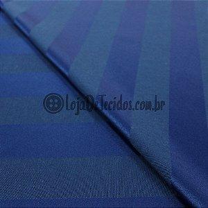 Jacquard Estampado Listrado Azul 2,80m de Largura