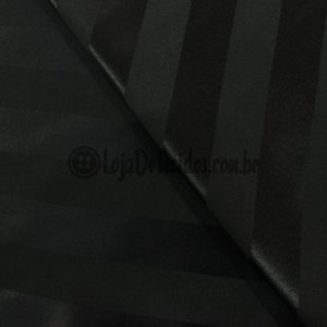 Jacquard Estampado LIstrado Preto 2,80m de Largura