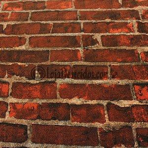 Jacquard Estampado Tijolinho Vermelho 2,80mt de Largura