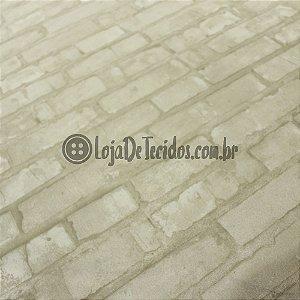 Jacquard Estampado Tijolinho Bege 2,80m de Largura