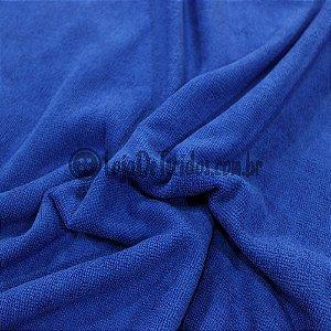 Atoalhado Microfibra Azul Royal 1,40mt de Largura