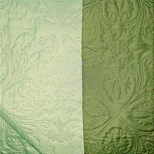 Tecido Matelado Liso Verde Oliva/Verde Claro 2,40mt de Largura