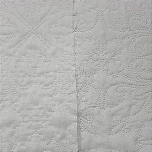 Tecido Matelado Liso Branco/Branco 2,40mt de Largura