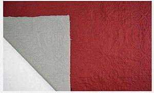 Tecido Matelado Liso Bege/Branco 2,40mt de Largura