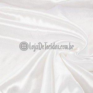 Cetim com Elastano Liso Branco 1,47m de Largura