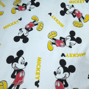 Malha 100% Algodão Cardada Tema Mickey