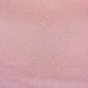 Malha 100% Algodão Cardada Liso Rosa Bebê Tubular 1,20mt