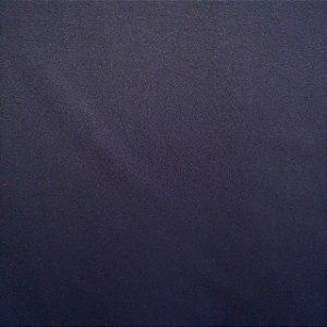 Malha 100% Algodão Cardada Liso Azul Marinho Tubular 90cm