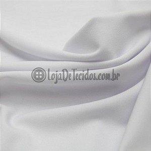 Malha 100% Algodão Cardada Liso Branco Tubular 1,20mt