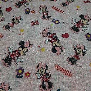Tricoline Licenciado Tema Minnie Mouse