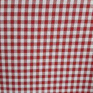 Oxford Xadrez Vermelho e Branco 0,5cm x 0,5cm 1,50mt de Largura