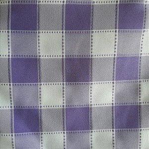 Oxford Xadrez Maquinetado Lilás e Branco 5cm x 5cm 1,50mt de Largura