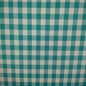 Oxford Xadrez Azul Turquesa e Branco 0,5cm x 0,5cm 1,50mt de Largura