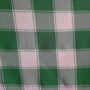 Oxford Xadrez Maquinetado Verde e Branco 5cm x 5cm 1,50mt de Largura