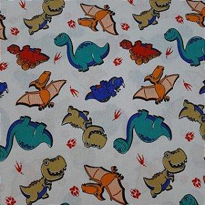 Tricoline Estampado Dinossauros