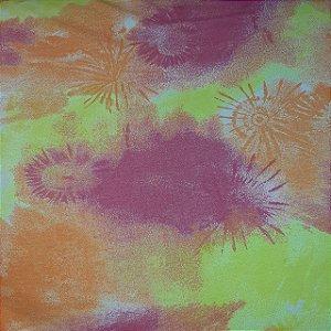 Viscolycra Estampada Tie-Dye 1,65mt Largura