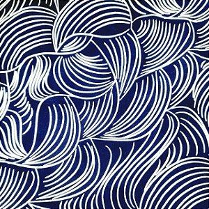 Tactel Estampado Fundo Azul Marinho 1,60mt de Largura