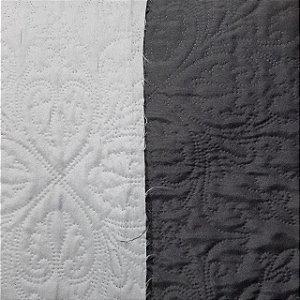 Tecido Matelado Liso Preto/Branco 2,40mt de Largura