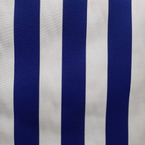 Tecido Verona Listrado Azul Royal/Branco 1,40mt de largura