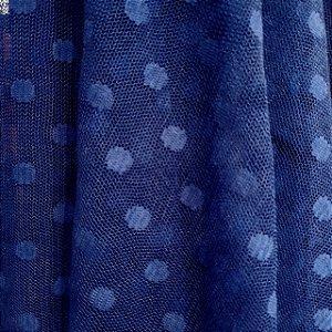 Tule de Poá Azul Marinho 1,50mt de Largura