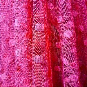 Tule de Poá Pink 1,50mt de Largura