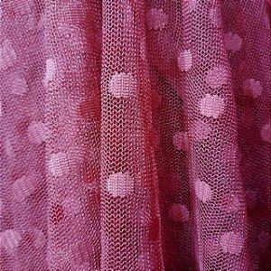 Tule de Poá Rosé Escuro 1,50mt de Largura