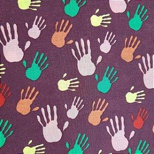 Tricoline Estampado Mãos