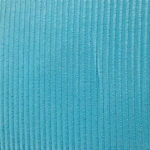 Malha de Viscose Canelada Azul Claro 1,30mt de Largura