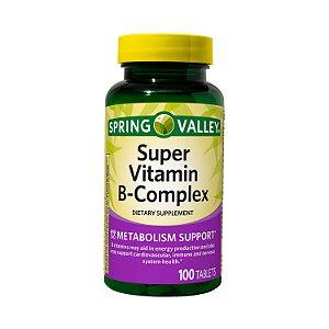 Super Vitamina Complexo B 100 Tablets Spring Valley