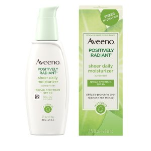 Aveeno Positively Radiant Sheer Daily Moisturizer SPF 30