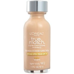 Loreal Paris Base True Match Super Blendable Makeup Light Ivory W2