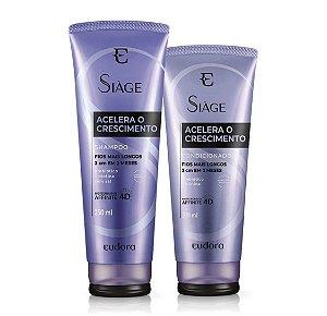 Kit Siàge Acelera o Crescimento Shampoo + Condicionador