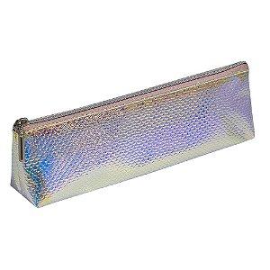 Estojo Escolar em PVC Holográfico DAC Escama Médio - E203