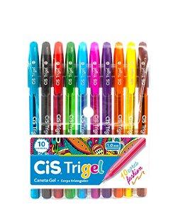 Canetas Esferográficas Fashion CiS Trigel com 10 cores - 57.6800