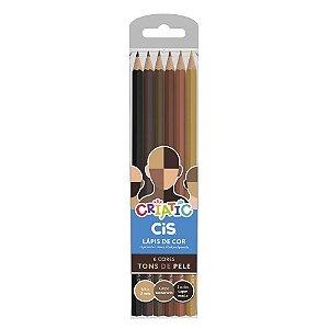 Lápis de Cor Tons de Pele CiS Criatic com 6 cores - 60.0300