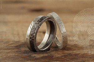 TRIO - Anéis Masculinos em Prata 925