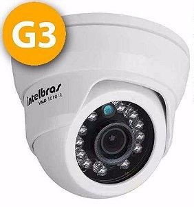 Câmera Dome Infravermelho Multi HD 4 em 1 Intelbras VHD 1010 D G3 HD 720p 3,6mm - HDCVI, HDTVI, AHD, ANALÓGICO
