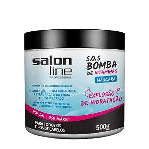 Máscara Salon Line S.O.S Bomba Vitaminas Hidratação Intensa 500g