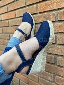 Sapato Anabela Jeans
