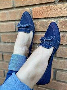 Mocassim Lacinho Jeans