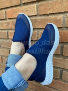 Tênis Meia Slim Azul