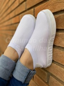 Tênis Meia Shoes Branco