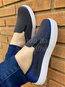 Slip On Glitter azul