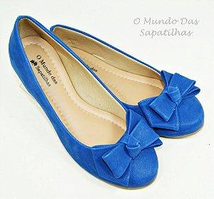 Sapatilha Confort Azul Bic Laço