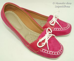 Mocassim Quadrado Pink Total Confort