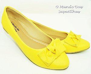 Sapatilha Amarela Laço